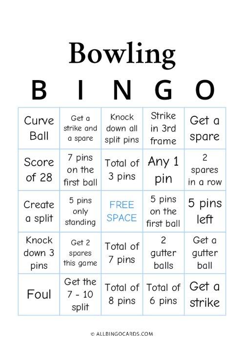 Bowling Bingo