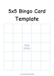 5x5 Bingo Template
