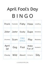 April Fools Day Bingo