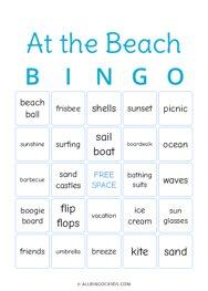 At the Beach Bingo