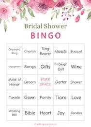 Floral Bridal Shower Bingo