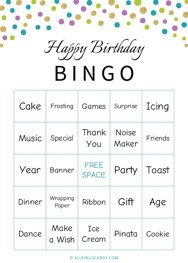 Happy Birthday Bingo