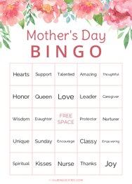 Mothers Day Bingo