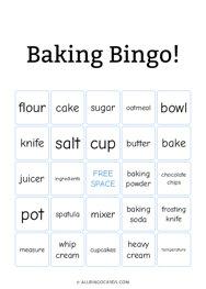 Baking Bingo