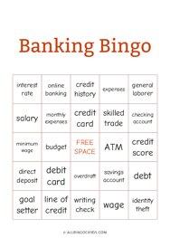 Banking Bingo