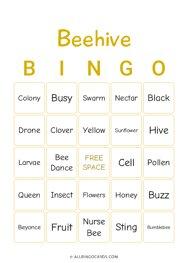 Beehive Bingo