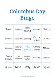 Columbus Day Bingo