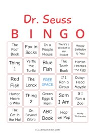 Dr. Seuss Bingo