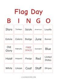 Flag Day Bingo