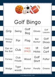 Golf Bingo