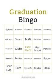 Graduation Bingo