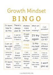 Growth Mindset Bingo