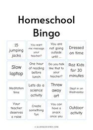 Homeschool Bingo