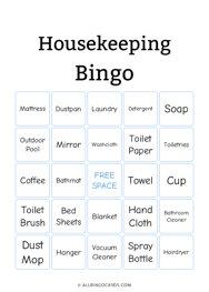 Housekeeping Bingo