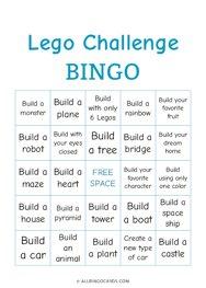 Lego Challenge Bingo