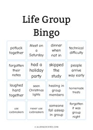 Life Group Bingo