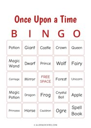 Once Upon a Time Bingo