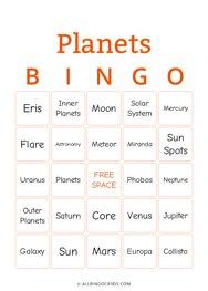 Planets Bingo