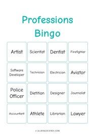 Professions Bingo