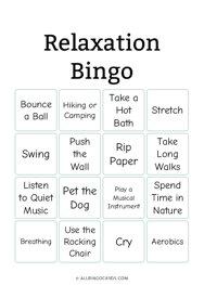 Relaxation Bingo