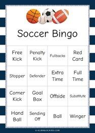 Soccer Bingo