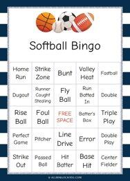 Softball Bingo