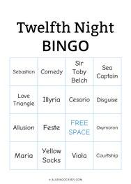 Twelfth Night Bingo