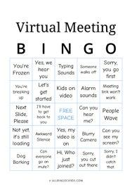 Virtual Meeting Bingo